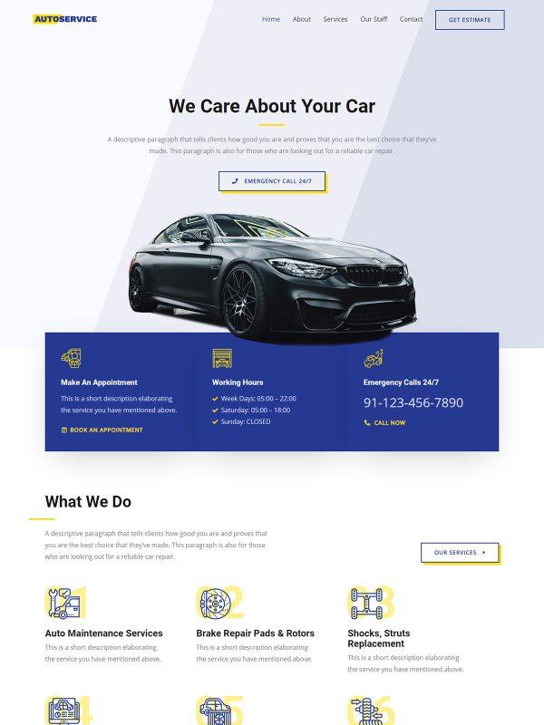 Contoh Website Dealer Mobil